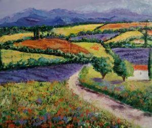 Le plateau de Valensol oil on canvass 38x47cm 400 Euro SOLD
